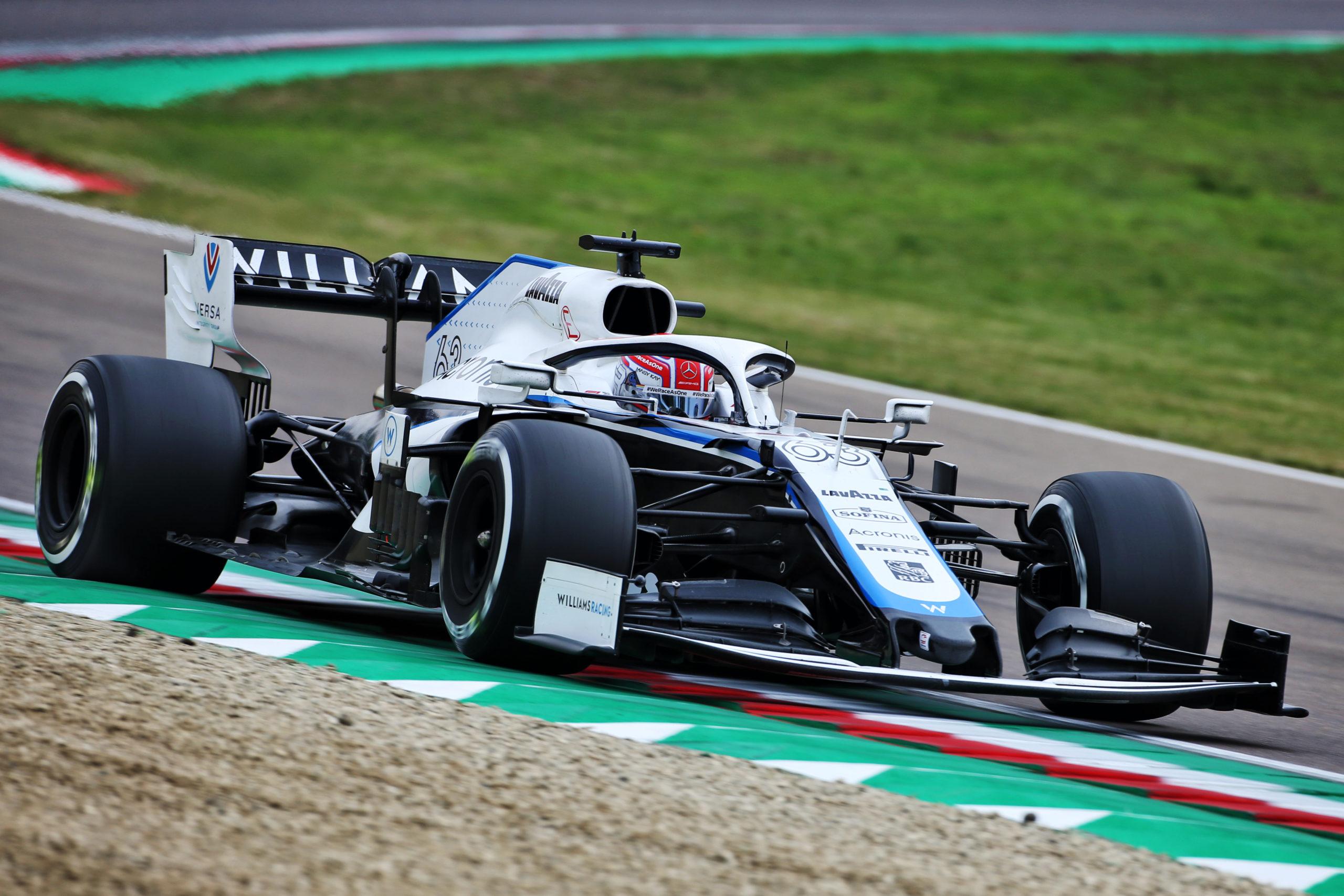 George Russell (GBR) Williams Racing FW43. Emilia Romagna Grand Prix, Sunday 1st November 2020. Imola, Italy.