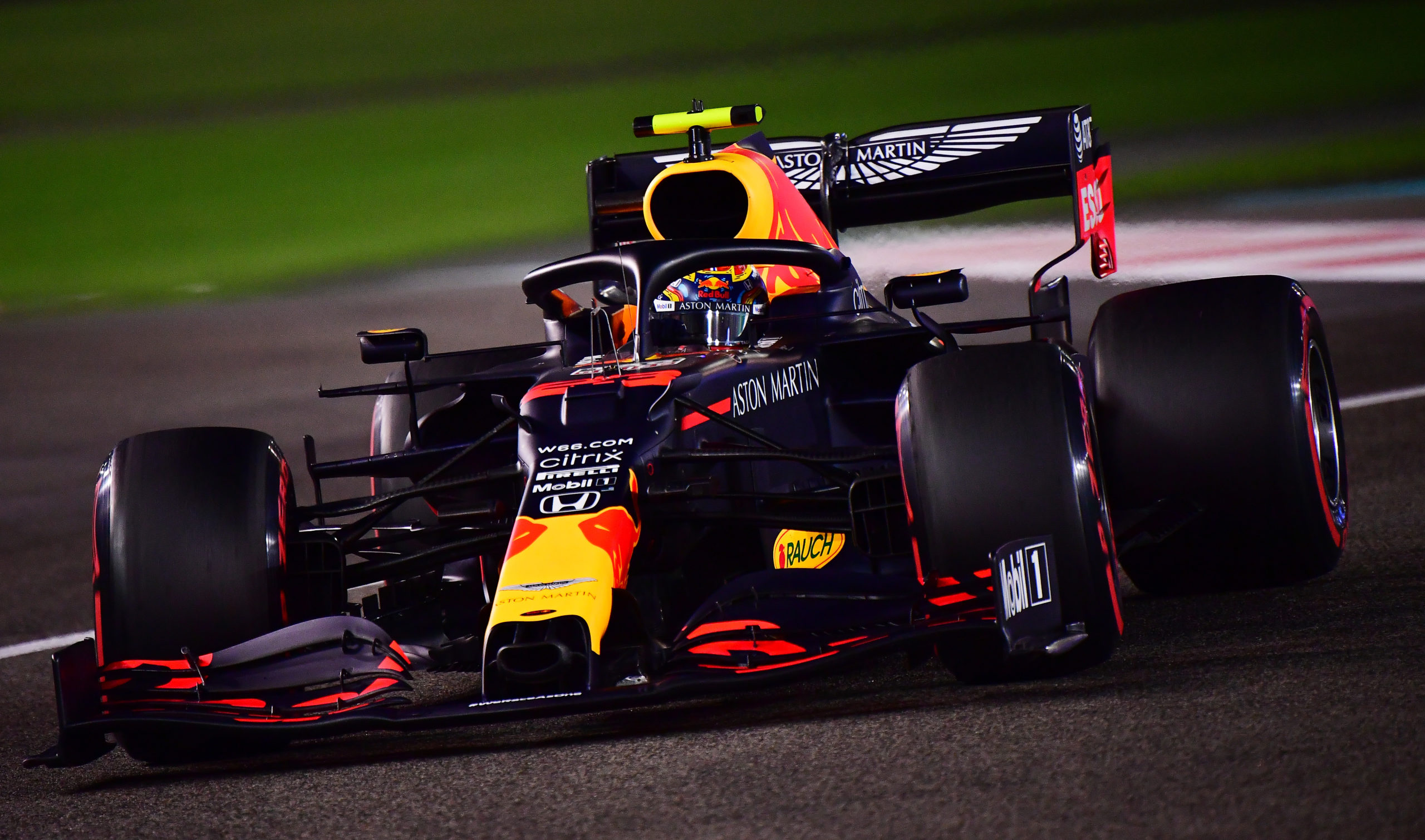 ABU DHABI, UNITED ARAB EMIRATES - DECEMBER 12: Alexander Albon of Thailand driving the (23) Aston Martin Red Bull Racing RB16 on track during qualifying ahead of the F1 Grand Prix of Abu Dhabi at Yas Marina Circuit on December 12, 2020 in Abu Dhabi, United Arab Emirates. (Photo by Giuseppe Cacace - Pool/Getty Images) // Getty Images / Red Bull Content Pool  // SI202012120502 // Usage for editorial use only //