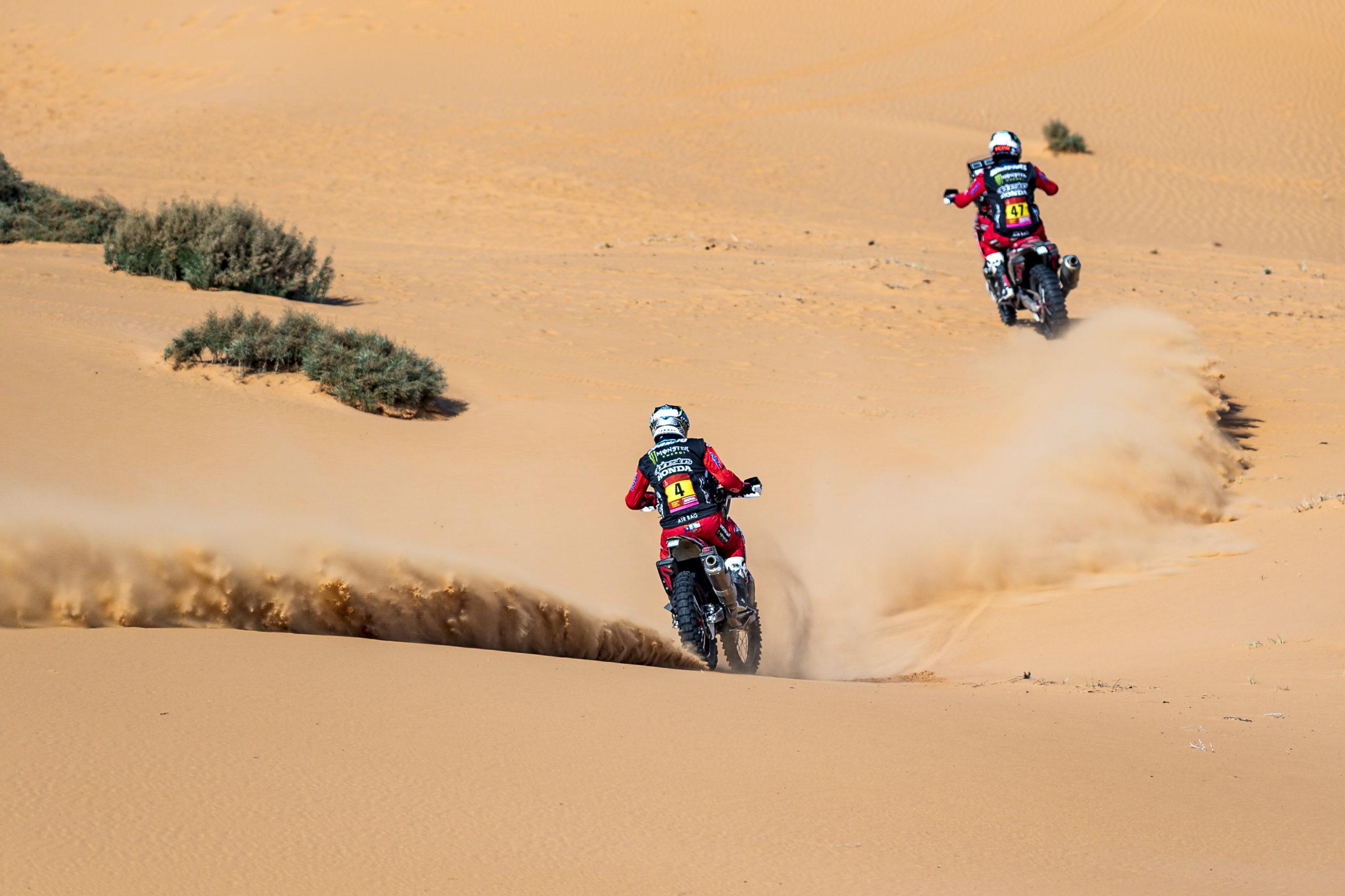 Kevin Benavides, Ricky Brabec, Honda HRC, Dakar 2021