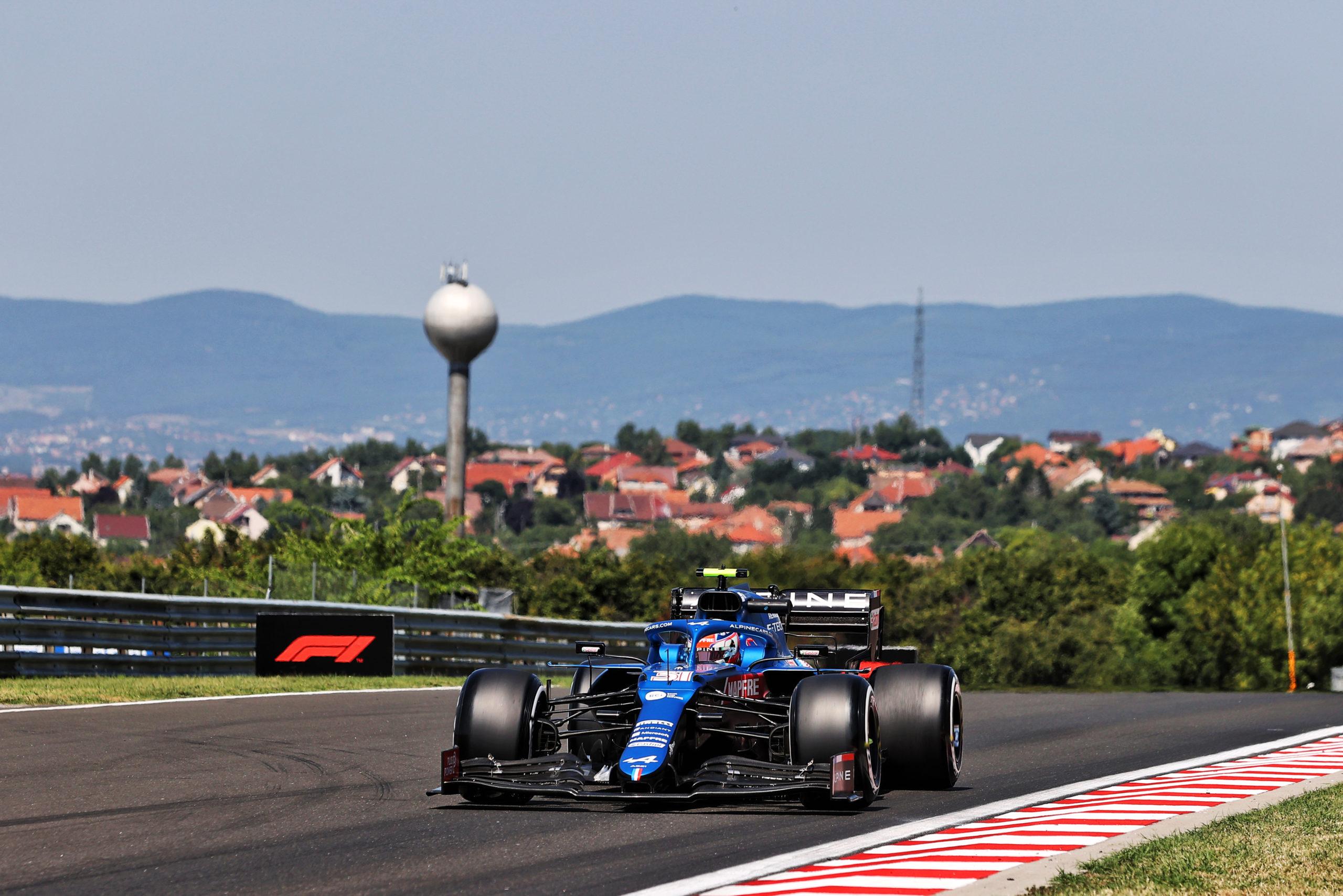 Esteban Ocon (FRA) Alpine F1 Team A521, F1 Grand Prix of Hungary at Hungaroring on July 30, 2021