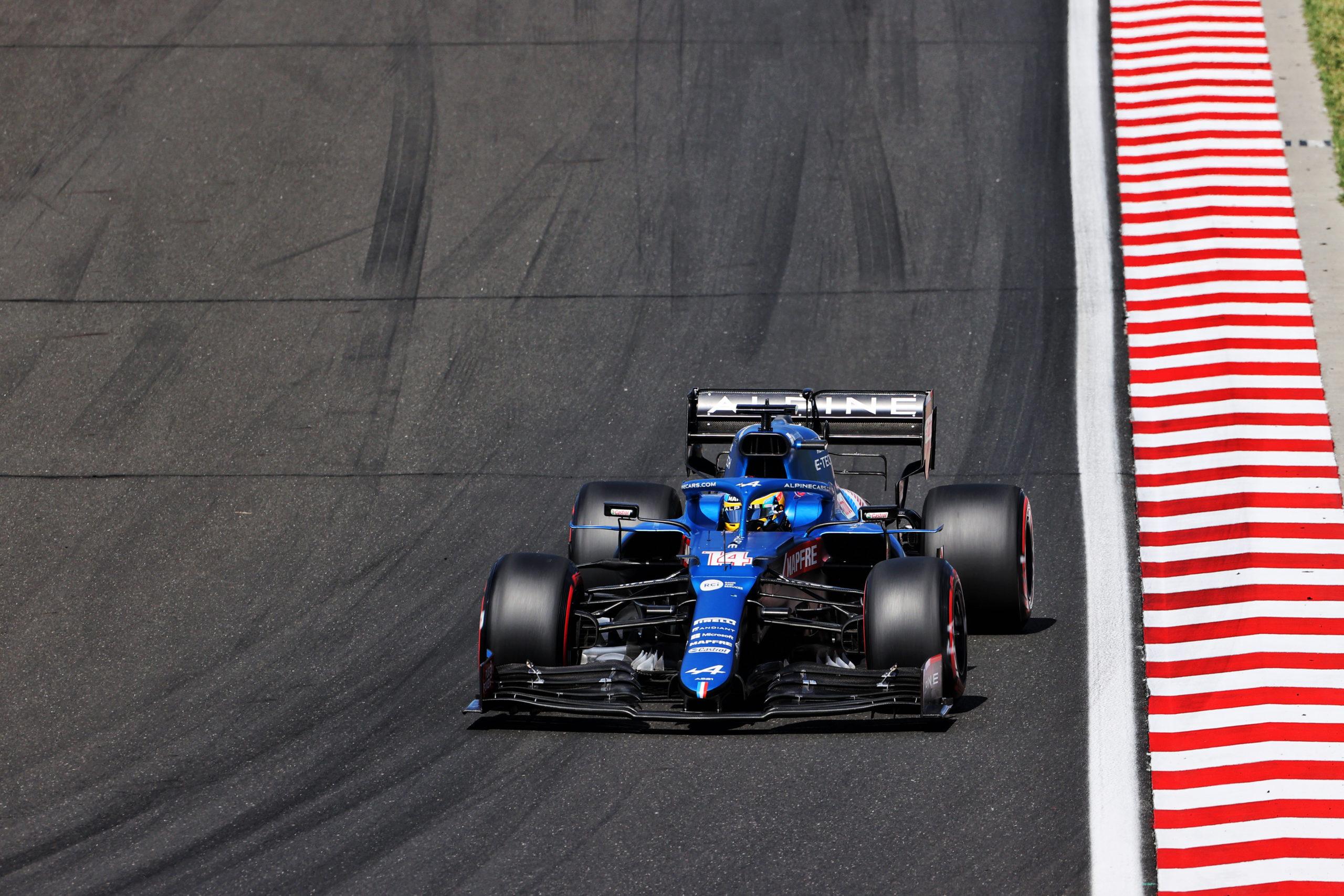 Fernando Alonso (ESP) Alpine F1 Team A521, F1 Grand Prix of Hungary at Hungaroring on July 31, 2021