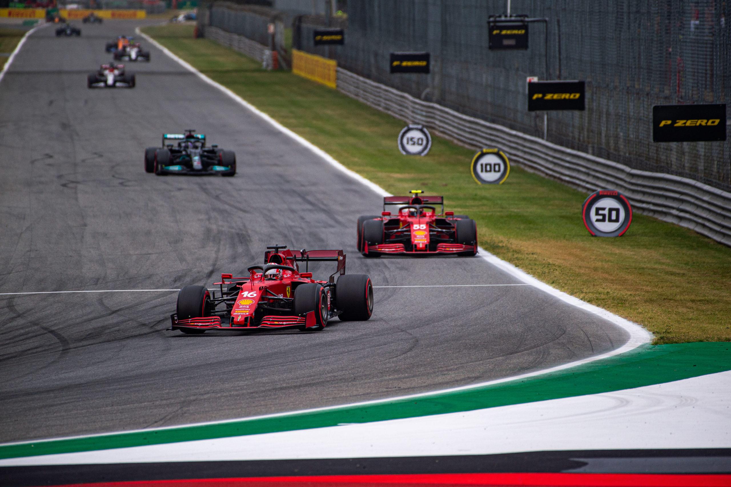 Carlos Sainz and Charles Leclerc, Ferrari, GP ITALIA F1/2021 - VENERDI 10/09/2021  credit: @Scuderia Ferrari Press Office