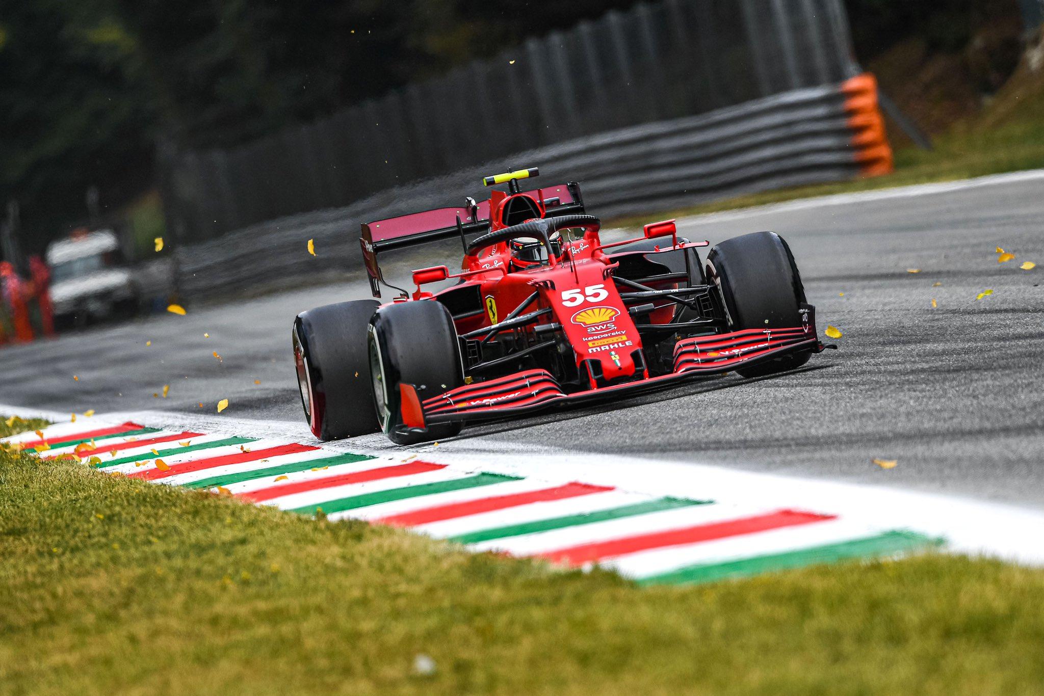 Carlos Sainz, Ferrari, GP Italy Monza F1/2021  credit: @Scuderia Ferrari Twitter