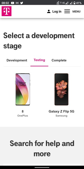 oneplus 8 t-mobile android 11 testing