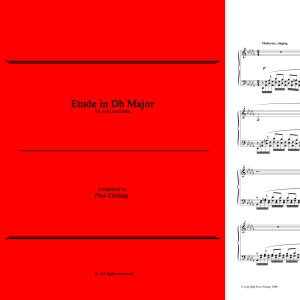 Etude in Db Major (solo marimba)