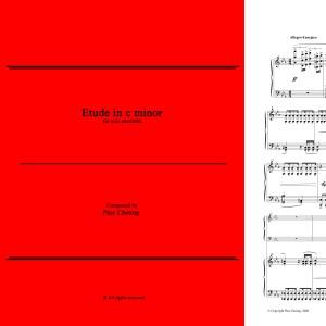 Etude in c minor (solo marimba)