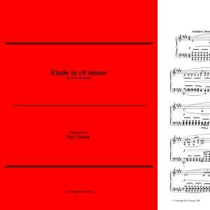 Etude in c# minor (solo marimba)
