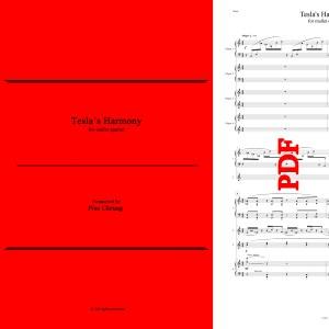 Tesla's Harmony (for mallet quartet) - Pius Cheung