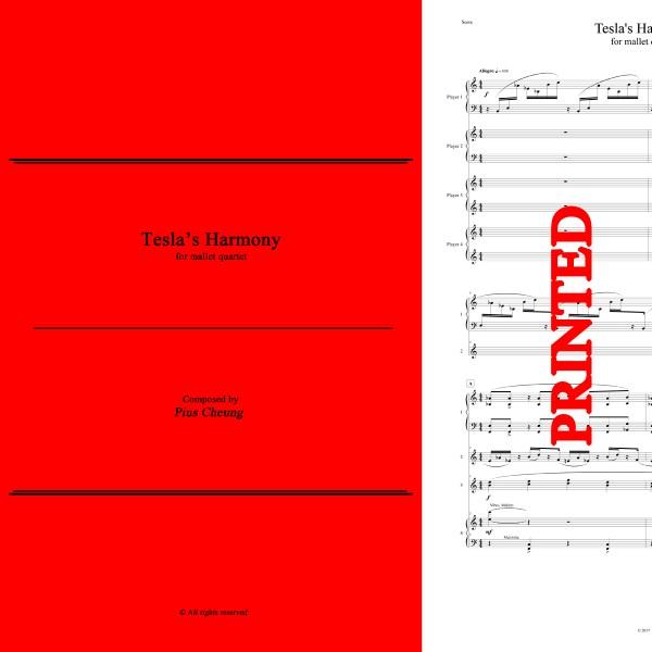 Tesla's Harmony (for mallet quartet) - PRINTED
