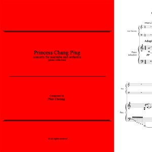 Princess Chang Ping (concerto for marimba & orchestra - piano reduction)