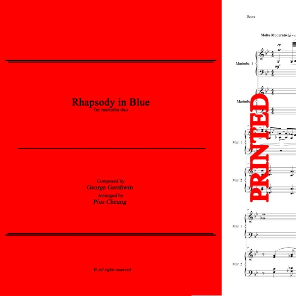 Rhapsody in Blue (arr. for marimba duo) - Score