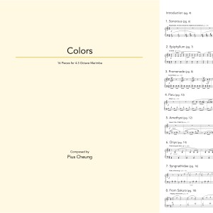 Colors (16 pieces for 4.3 octave marimba)