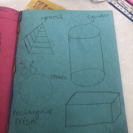 "Julia 2nd Mr Neary ""3 d shapes"""