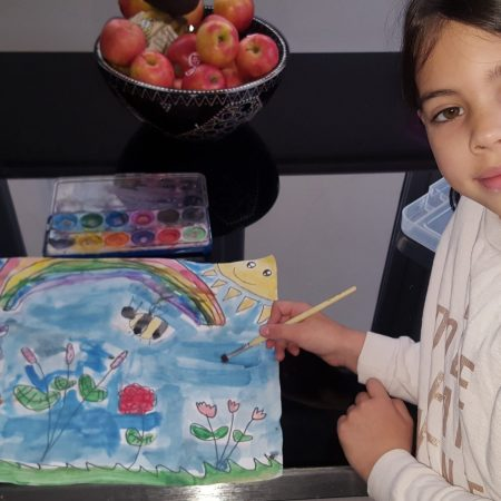 """Lauren Sr. Inf Ms. Durkan """"This is my spring picture which I painted using water colours in the Easter Holidays"""""""