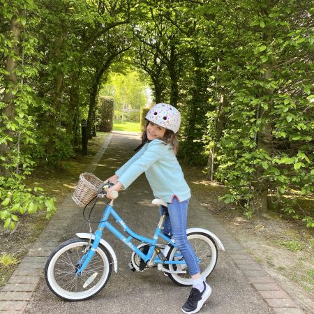 """Sadie Anna Sr Inf Ms Durkan """"I am on a cycle with my mom . We are doing lots of exercise for active week """""""