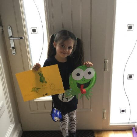 """Zara JI Ms McCarthy """"This is my 'life cycle of a frog' picture and paper frog that I made"""""""