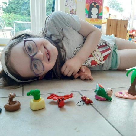 "Ciara Sr Inf Ms Durkan ""Having fun getting creative with polymer clay"""