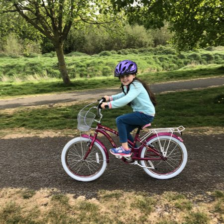 """Ella Sr Inf Ms Durkan """"Out on a cycle in the park"""""""