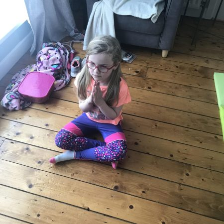 """Emma Sr Inf Ms Godson """" Doing some Cosmic Yoga for Active week"""""""