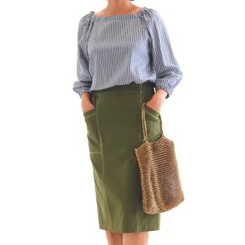 【美人服レシピ】直線裁ちで作るタイトスカート