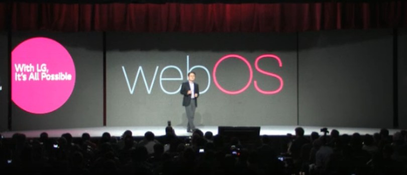 A big webOS logo at CES 2014