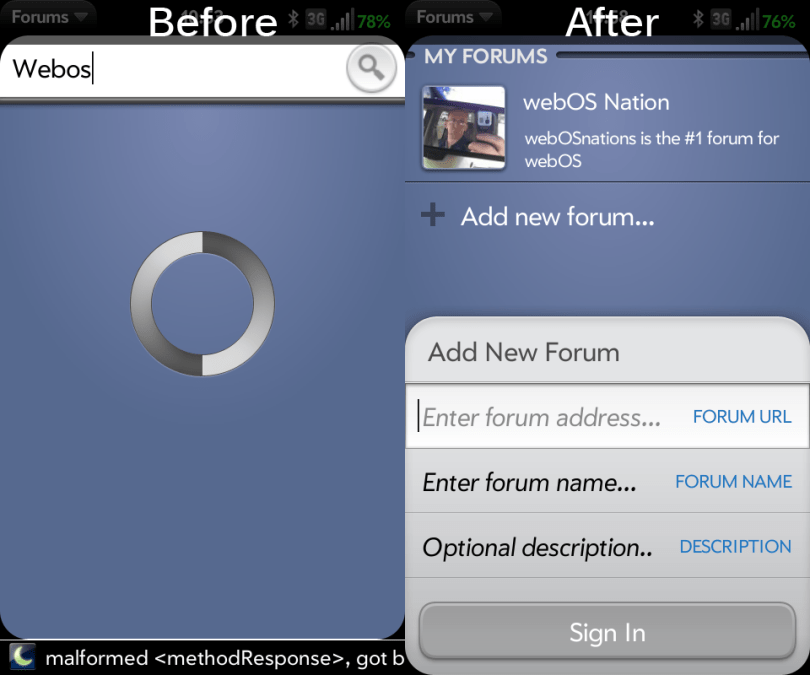 Manually add forums