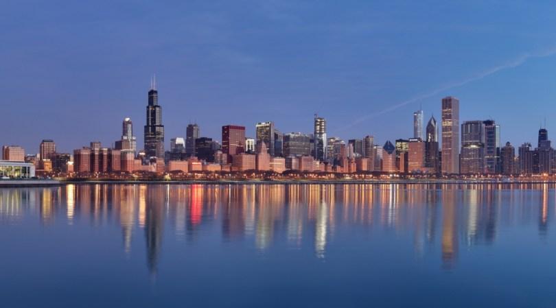 Chicago sunrise by Daniel Schwen