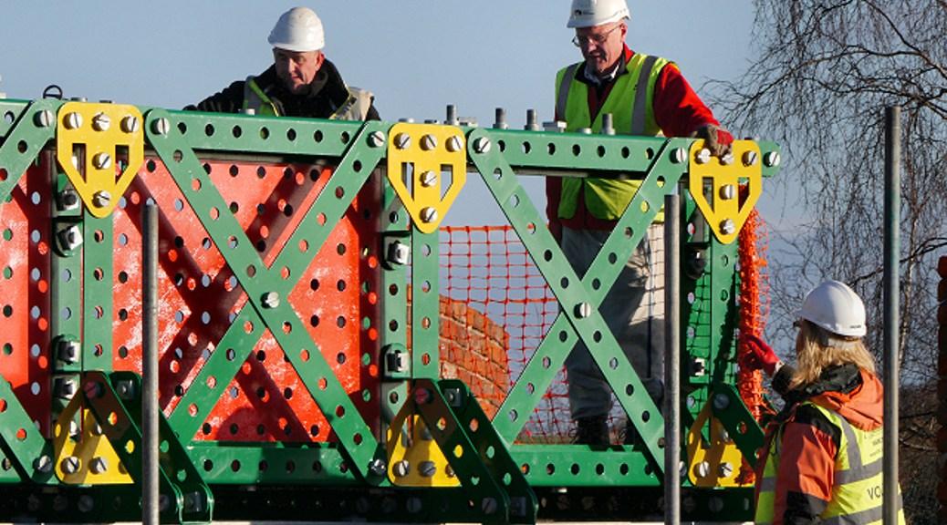 Working on the Meccano Bridge by David Dixon.