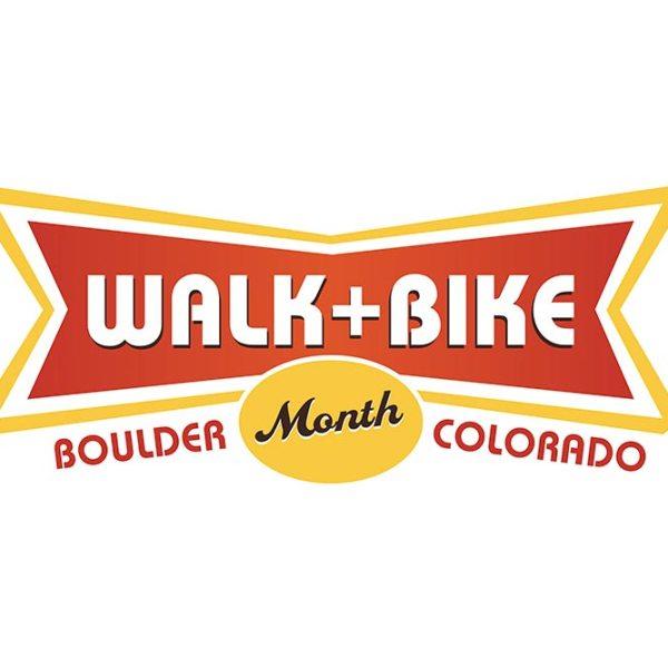 Logo for Boulder Walk and Bike Month