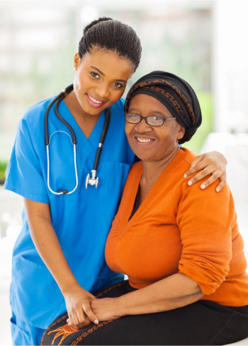 Staff and patient front picture