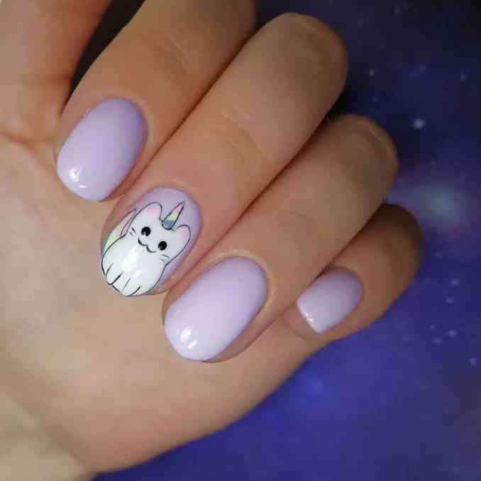 Bright nail art with a unicorn: stylish ideas for manicure in the photo and how to do it 70