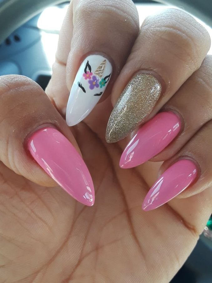 Bright nail art with a unicorn: stylish ideas for manicure in the photo and how to do it 105