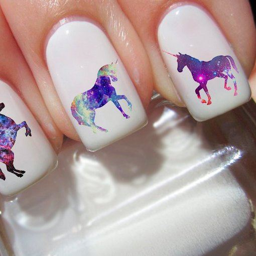 Bright nail art with a unicorn: stylish ideas for manicure in the photo and how to do it 111