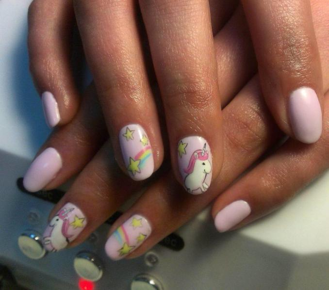 Bright nail art with a unicorn: stylish ideas for manicure in the photo and how to do it 81