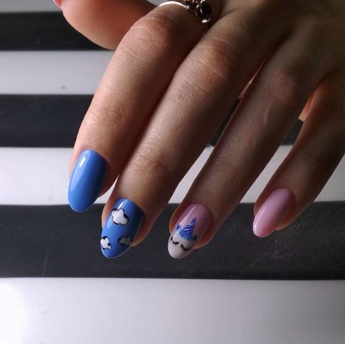 Bright nail art with a unicorn: stylish ideas for manicure in the photo and how to do it 84