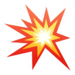 Image result for explosion emoji