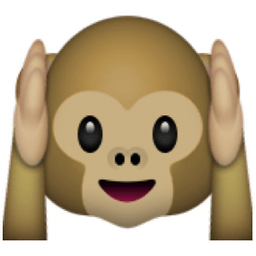 Image result for hear no evil emoji