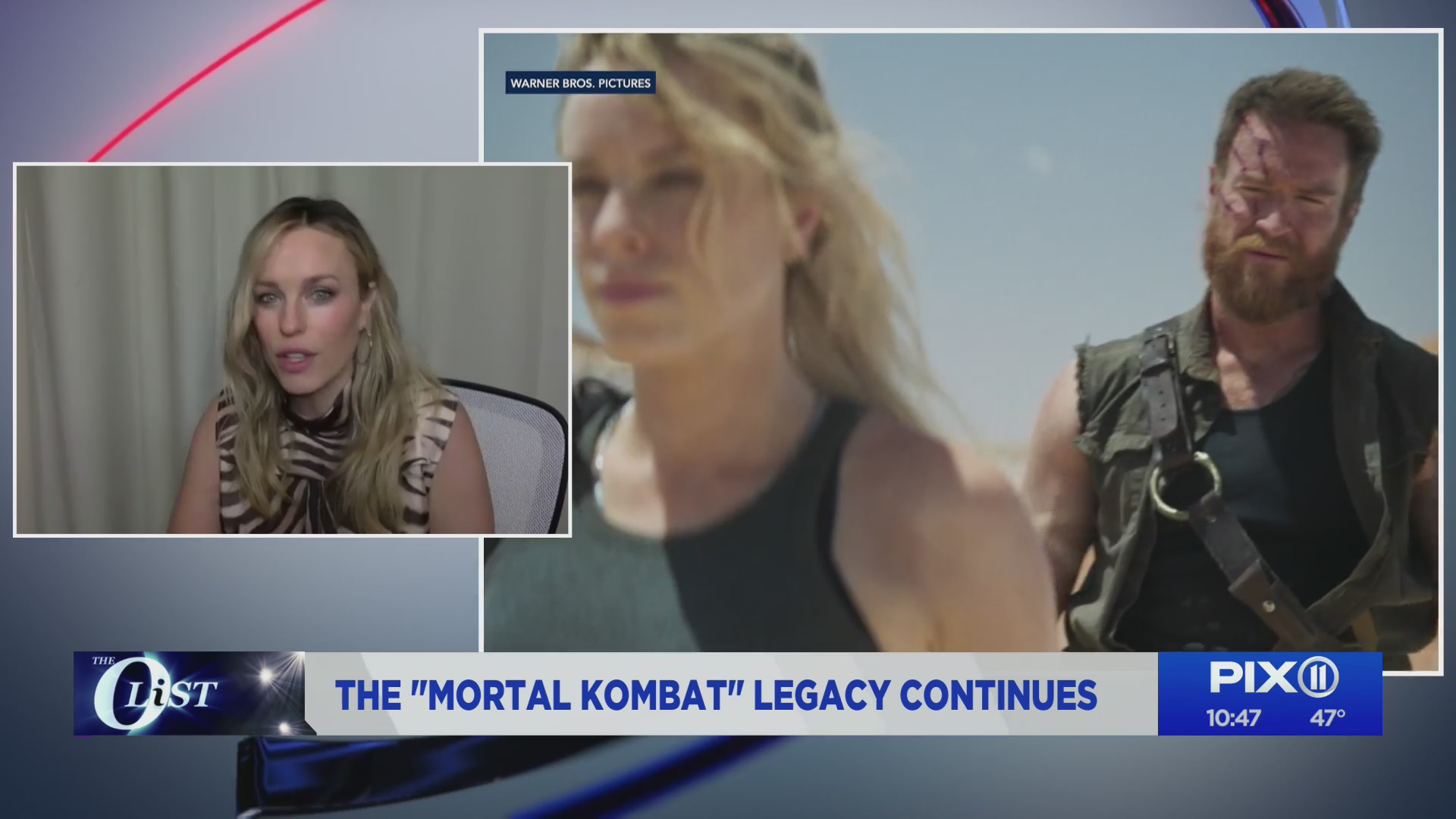"""Actress Jessica McNamee talks playing Sonya Blade in the new """"Mortal Kombat"""" movie on the PIX11 Morning News. (PIX11 News)"""