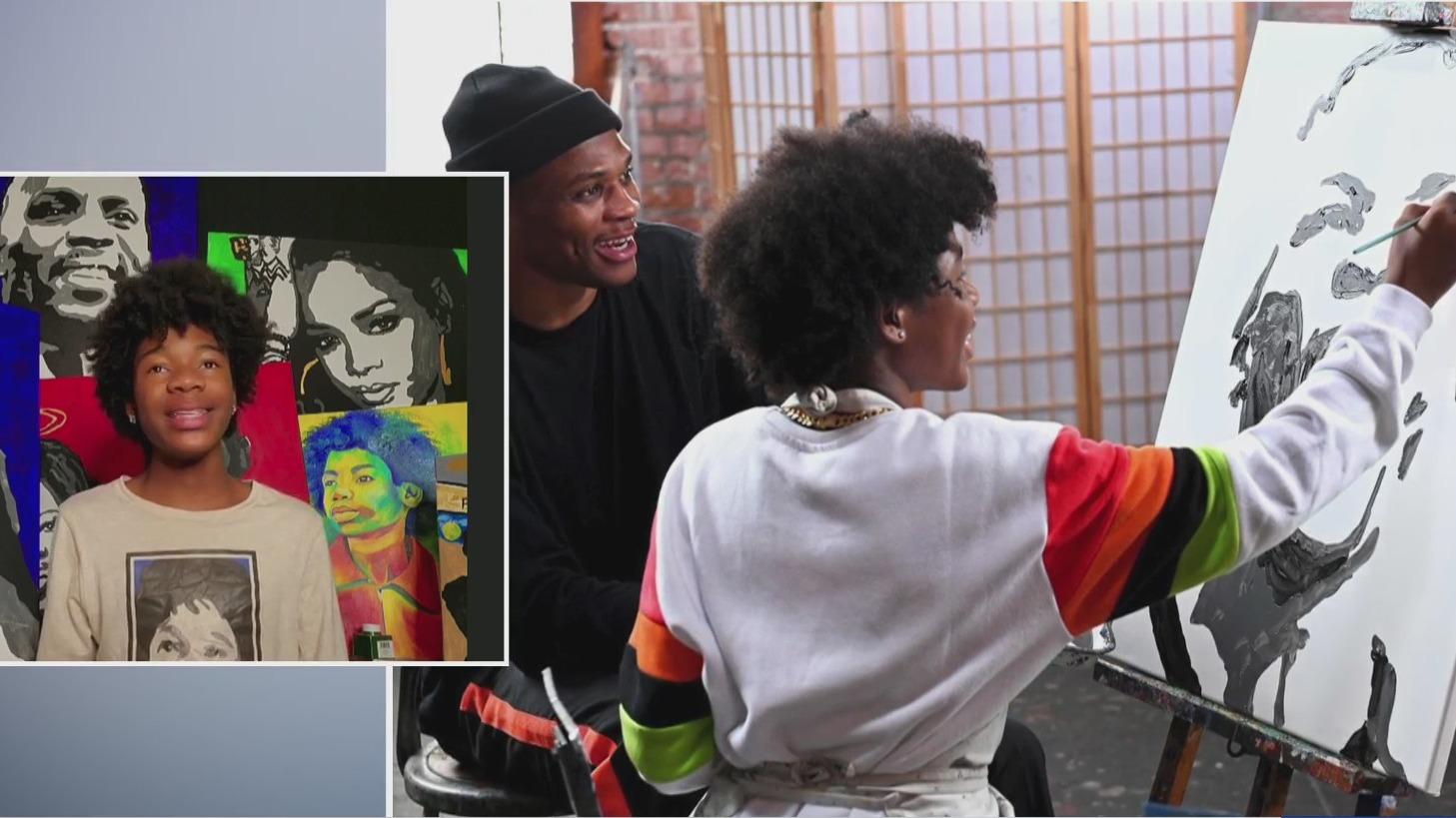 Teen painter Tyler Gordon