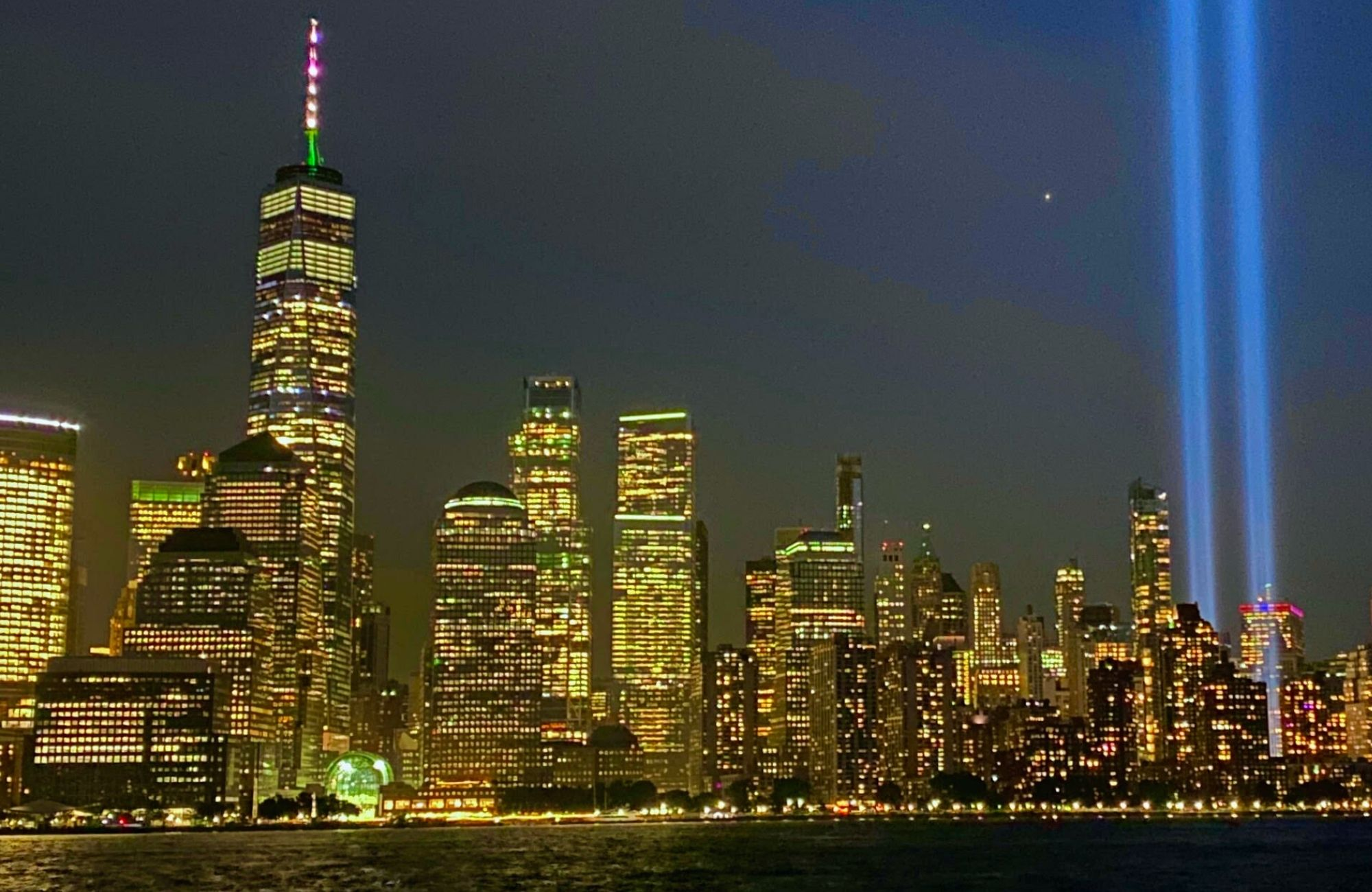 One World Trade and Tribute in Lights skyline