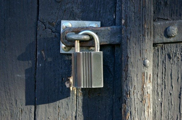 Padlock, Lock, Door, Closed