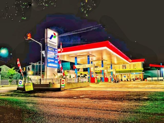A city petrol pump