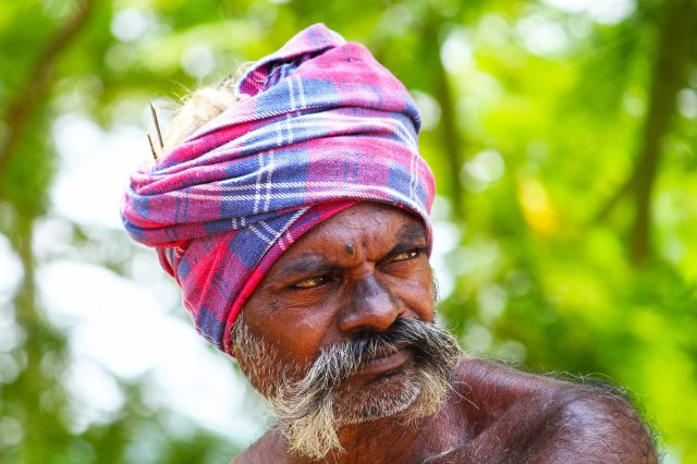 A man with moustache