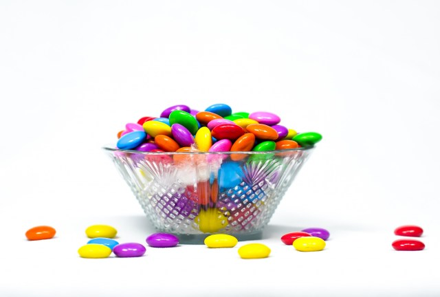 Bowl Load with Gems in White Background
