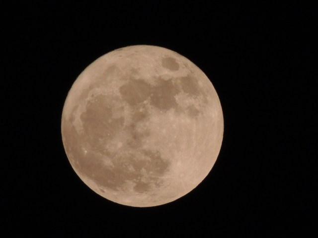 The Moon on Dark Background