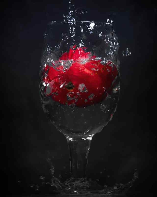 Tomato and Water Splash