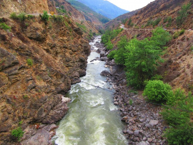 River in Himalayan valley