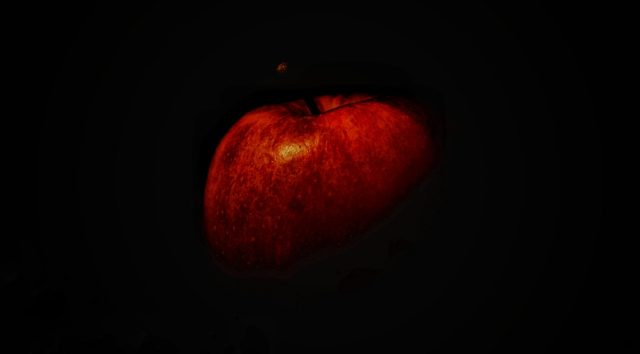 Apple on Dark Background