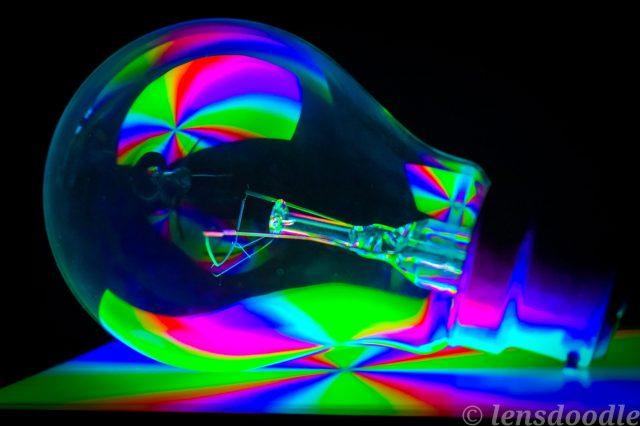 Creatively shot landscape of a light bulb