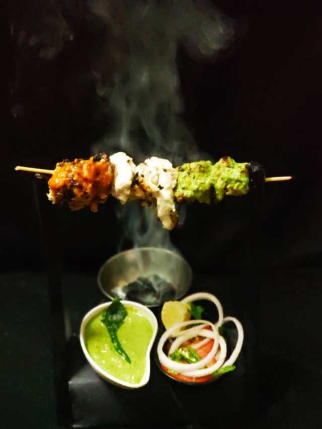 Chicken tikka in three ways